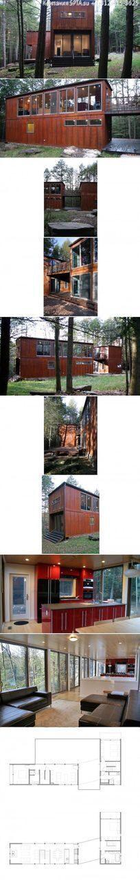 Идеи проекта домов из морских контейнеров (26)