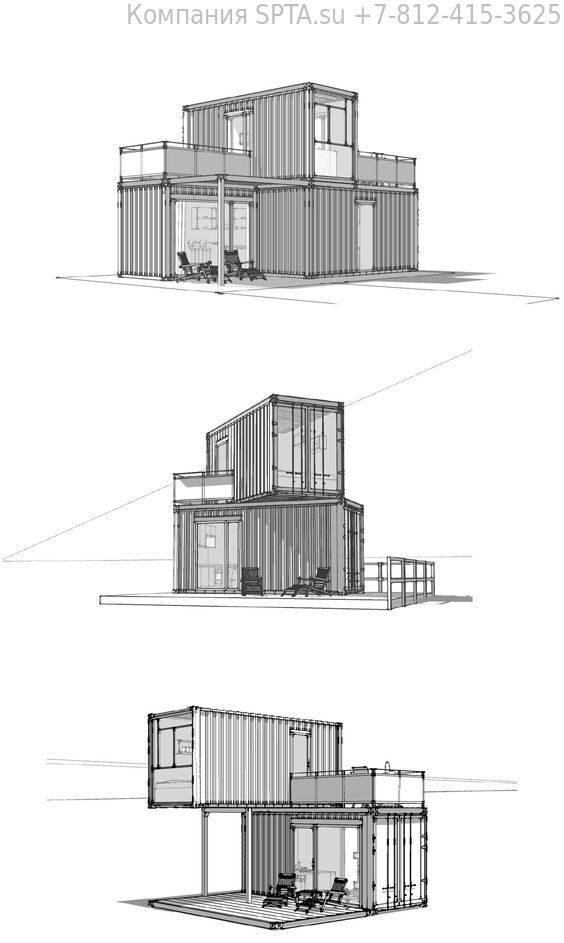 Идеи проекта домов из морских контейнеров (31)