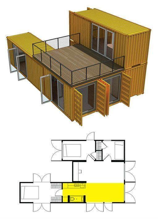 Идеи проекта домов из морских контейнеров (40)